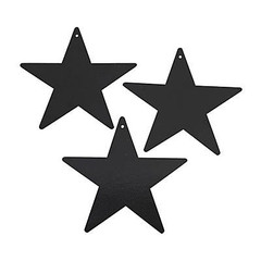Star Decoration, Black, Medium