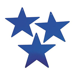 Star Decoration, Blue, Large