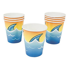 Shark  Party Cups