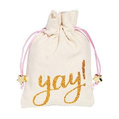 Cotton Drawstring Bag, Yay!