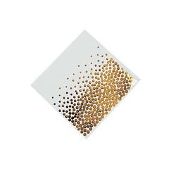 Gold Foil Dots, Beverage Napkins