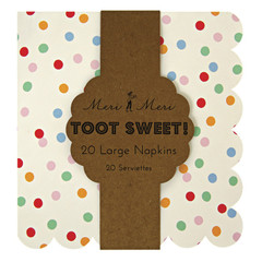 Toot Sweet Spotty Napkins, Large