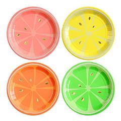 Neon Citrus Plates, Small