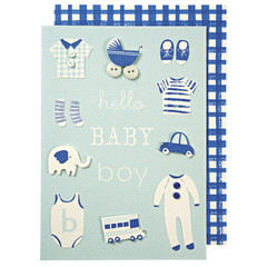 Greeting Card: Blue Baby Boy