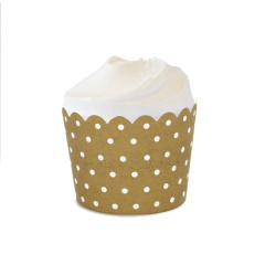 Gold Crush Polka Dot Baking Cups