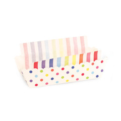Rainbow Party Polka Dot Baking / Lunch Trays