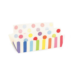 Rainbow Party Striped Baking / Lunch Tray