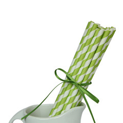 Paper Straws, Stripey Green