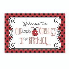 Ladybug Love Welcome Poster