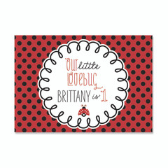 Ladybug Love Party Poster