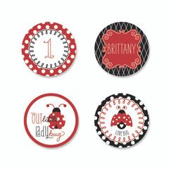 Ladybug Love Stickers