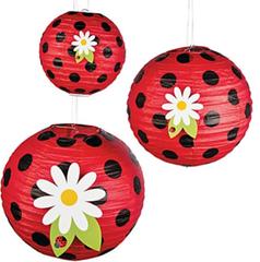 Ladybug Love Paper Lanterns