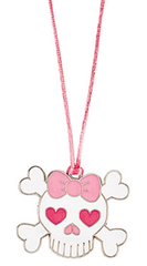 Pink Skull and Crossbone Necklace