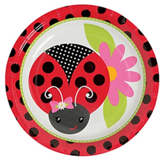 Ladybug Love Dessert Plate