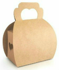 Bakery Box with Heart Handle, Craft Paper