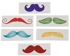 [SALE] Little Man Rainbow Mustaches, Life Size