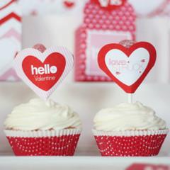 Valentine's Cupcake Topper