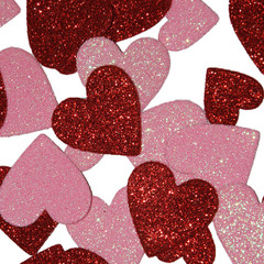 Glitter Heart Table Confetti