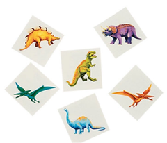 Colorful Dinosaur Tattoos