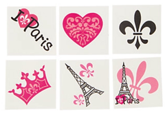 Perfectly Parisian Temporary Tattoos