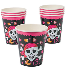 Pink Pirate Beverage Cups