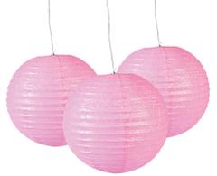 Glitter Paper Lanterns, Pink