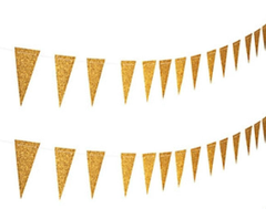 Glitter Bunting, Gold