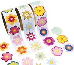 Colorful Flower Stickers