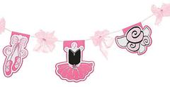 Pretty Pink Ballerina Party Garland