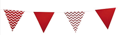 Bunting, Red Chevron