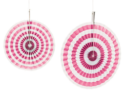 Paper Fans, Candy Pink Stripes
