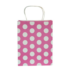 Party Bag, Hot Pink Polka Dots, Large