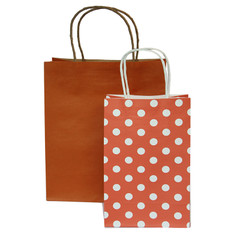 Party Bag, Orange Polka Dots, Small