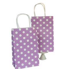 Party Bag, Purple Polka Dots, Small