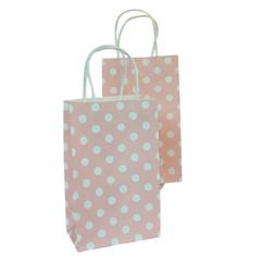 Party Bag, Pink Polka Dots, Small