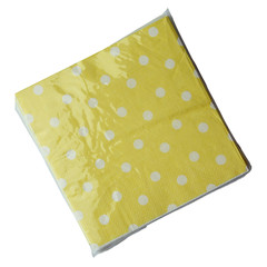 Polka Dot Napkins, Yellow with White