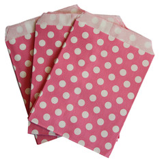 Treat Bag, Hot Pink Polka Dots