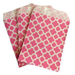 Treat Bag, Hot Pink Quatrefoil