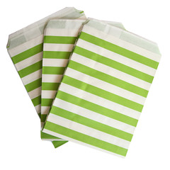 Treat Bag, Green Stripe