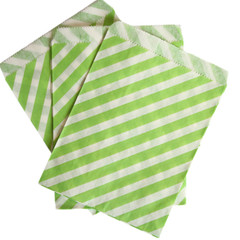 Treat Bag, Green Diagonal Stripe