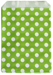 Treat Bag, Green Polka Dots