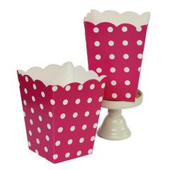 Popcorn Box, Hot Pink Polka Dots