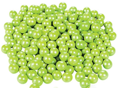Chocolate Candies, Shimmer Lime Green