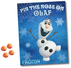 Pin the Nose on Olaf Poster