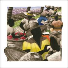 Canvas Art from Anguilla | Petit Marche Couleur 6 by Lynne Bernbaum