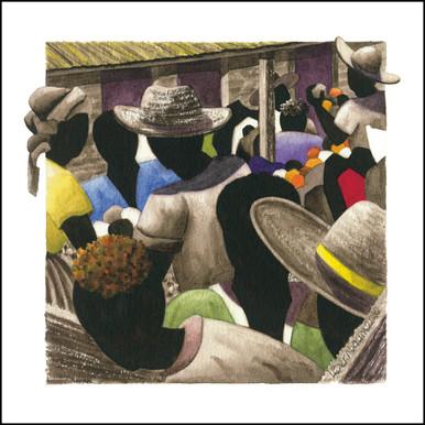 Canvas Art from Anguilla | Petit Marche Couleur 5 by Lynne Bernbaum