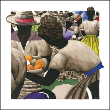 Canvas Art from Anguilla | Petit Marche Couleur 11 by Lynne Bernbaum