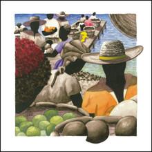 Canvas Art from Anguilla | Petit Marche Couleur 10 by Lynne Bernbaum