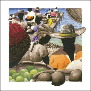 Canvas Art from Anguilla | Petit Marche Couleur 10 by Lynne Bernbaum