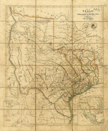 1841 Republic of Texas Map